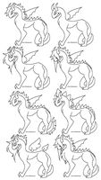 Dragon Makeable Lines : 1 by RenaInnocenti