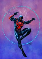 Spider Man 2099 Colors. by CrisstianoCruz