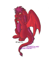 Red cookie dragon by Tikalie-Wolf