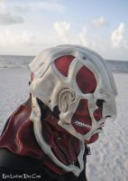 Colossal Titan Leather Mask: Side Profile by Epic-Leather