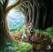 Into the elven forest by D3SMMUN