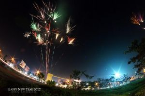 Fireworks In Fisheye 1 by perigunawan