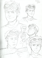 DR. HORRIBLE sketches by lewisrockets