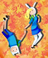 Fionna and Finn By ExplosionMidori by ExplosionMidori