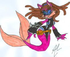 Secret FF Lyco Mermaid Commission - Colored by dragonheart07