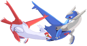 Latios and Latias Pixel Over by Fade-Away-Requiem