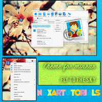 Theme for Winrar Fly to the Sky by SoteloBoy