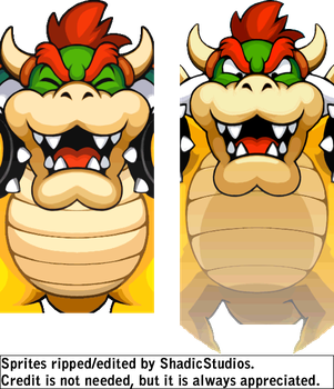 Bowser's Inside Story - Giant Battle Intro Sprites by ShadicStudios