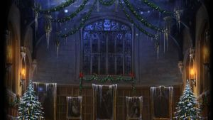 Pottermore Background: Great Hall at Christmas #1 by xxtayce