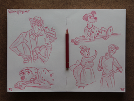 Animation Sketches - 101 Dalmatians by AngelGanev