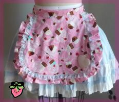 Frilly Cupcake Apron by StrawberiandRibbon