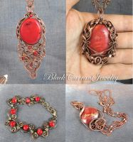 Red, Pink and Hearts by blackcurrantjewelry