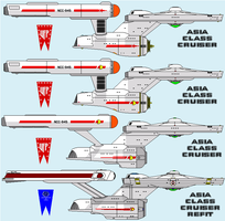 Asia Class Cruiser evolution by MarcusStarkiller