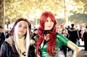 Rogue and Phoenix by MaddMorgana