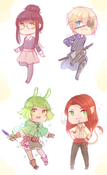 Zepter | Chibi Army and Yu by cytes