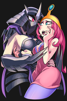 Shredder and Princess Bubblegum cosplay Fanart by Gashi-gashi