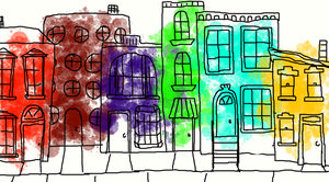 Colorful Buildings by KLN-loves-fish