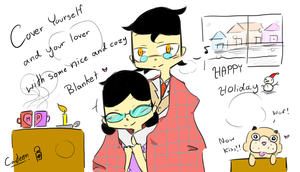 Medic and Miss Pauling-Happy Holiday by PowerUPCanteenPFDA