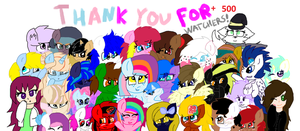 Thank you for +500 watchers! by cottoncloudyfilly