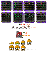 Wily Wars 4: Fortress bosses by Bongwater-bandit