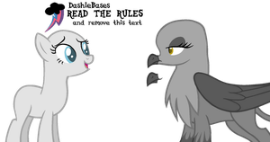 MLP Base: throws a pony and griffon base at you by DashieBases