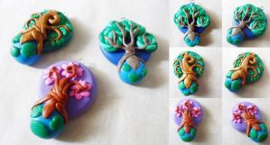 World Tree Pendants by Saru-Hime