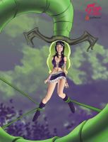 Nico Robin swallowed by a plant by godvore