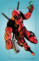 deadpool inks colored by infermium1