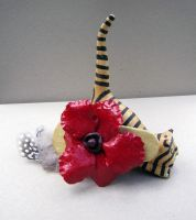 Red Poppy on Gold by spaceraptor