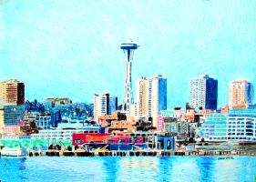 Seattle by johnwickart