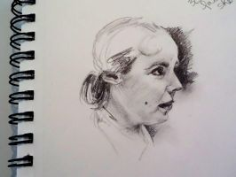 Pencil Sketch - magazine reference #2 by Ismey-the-Nimble