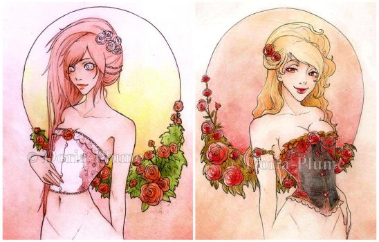 - Two Roses - by Doria-Plume