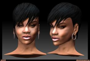 Rihanna Sulpt - Celebrity 1 by GDSWorld