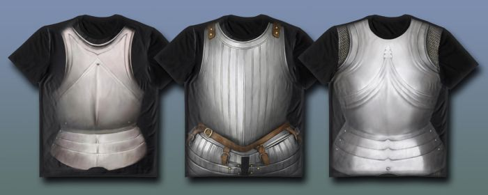 Armoured t-shirt designs by RobbieMcSweeney