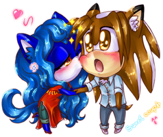 Chibi Commission:Sweet couple ^ ^ by BloomTH