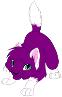 Purple kitty commission by Searii