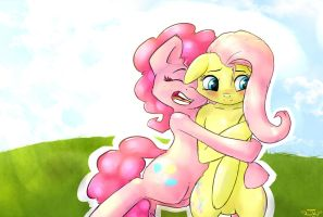Pinkie Hugs are best hugs o3o by AngelWing314