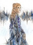 Sansa Watercolour by blackxCanary
