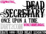 DEAD SECRETARY FONT by KeepWaiting