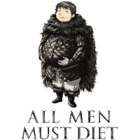 All Men Must Diet - Tshirt Design by Hiei-Ishida