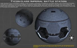 Tycon-class Imperial Battle Station ortho [New] by unusualsuspex