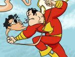 Captain Marvel vs. Plastic Man by Frigid-Studios
