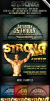 Strong Men Flyer Template by survivorcz