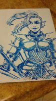 Undyne the Undying - White Board by 25thHanabusa