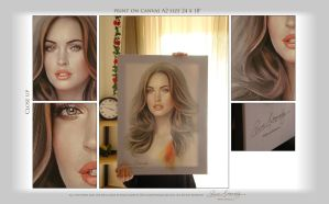 Megan Fox on Canvas 24x18 by Amro0