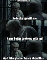 Harry breaks up with Draco by AnnikaClarisse