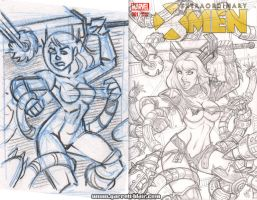 Danger Room Magik pencils/WIP by gb2k