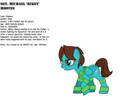 Sgt. Mikey hooves 'V2 + story' by Miel1994