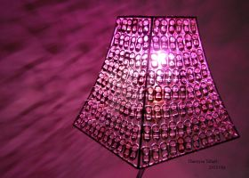 Lamp Shade With Light On by Thereysa