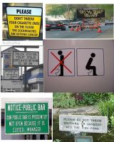 yay signs with people peeing how educational...... by liamda1